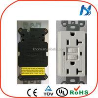 GFCI wall plug receptacle, 220v gfci receptacle , gfci outlet UL