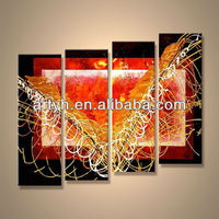 Popular modern handpainted canvas abstract outdoor acrylic painting