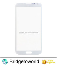 For samsung note 2 front glass lens panel cover white/black color replacement