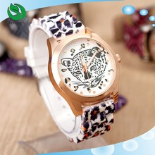 4 Colors New Fashion Tiger Leopard Silicone For Women Dress Watch Watch