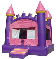 wholesale Pink Arched Castle Bounce House for cheap price