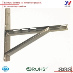 custom sheet metal fabrication of microwave oven wall mount bracket as your drawings
