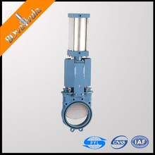 DIN slurry knife gate valve stainless pneumatic driven knife gate valve
