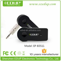 Micro Black bluetooth wireless audio receiver with Mic and Stero Output