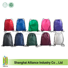 210D Polyester Blank Drawstring Bag For Sports With Customized Logo