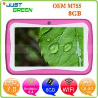 Gold Supplier OEM M755 RK3126 Quad Core 1.3GHz Android 4.4 touch screen tablet pc repair Shenzhen