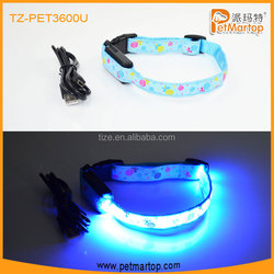 Hot LED USB Rechargeable Dog collar PET3100U Led Det Collar pets toys and accessories