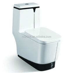 Black Color Big Outlet Ceramic One piece Toilet