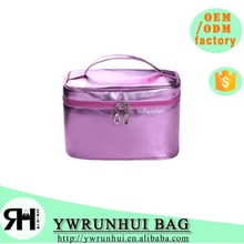 Candy Color PU Cosmetic Case Bag with Handle