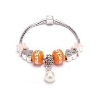 2015 new design Handmade DIY bracelet, heart-shaped ceramic pearl bracelet love bracelet