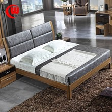 The modern minimalist furniture plate 1.8 meters high 1.5 double bed storage box and wooden box bed