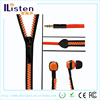 hot new product for sell stereo headphones cool zipper earbuds for girls