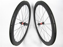 Customized carbon raod bike wheels 50mmx23mm wide clincher rims aero U shape racing bike wheels high performance