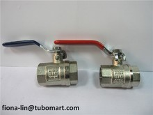 brass ball valves of nickel plating with steel handle BSP or NPT threaded
