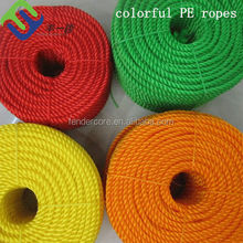 China supply high quality color pe rope