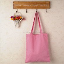 Pink cotton shopping bag large bag