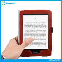 2015 New Design Leather kindle Case Cover for New Amazon Kindle Paperwhite 2014 6""