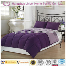 Purple Down Alternative Duvet/Microfiber Comforter/Polyester Quilt Bedspreads Cover Set