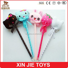new style plush cat ball pen fashion plush pencil lovely children plush pen