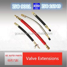flexible tire valve extension of angle connector