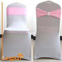De gama alta decorativo plástico reclinable silla de cubierta, decoración de la boda cubierta de la silla