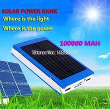 Hot sale 20000mAh Solar Power Bank Backup Battery Solar Charger 20000mAh for GPS MP3 PDA Mobile Phone free shipping