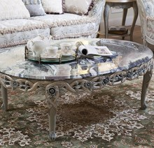 Vintage Marble Top Coffee Table Classic