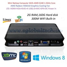 Smart PC Desktop With Pre-installed 2G RAM 160G HDD 300M WIFI Built-in Bluetooth HD Cable 1.4 DC 12V Home PC