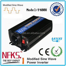 400W NEW Design Car Power Inverter High Frequency Car Power Inverter DC TO AC