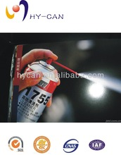 Aerosol tin can for snow spray with special refrigeration system