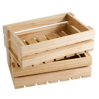 Antique Wood Fruit Crates Small Box