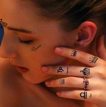 2015 Temporary Tattoo Removable waterproof Black Tattoos Art Stickers Body art