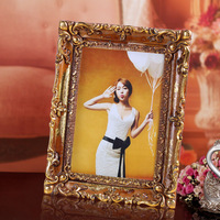 2015 wholesale resin adjustable picture frame for baby wedding home decor college gold square 0.4kg 15cmx20cm BY001