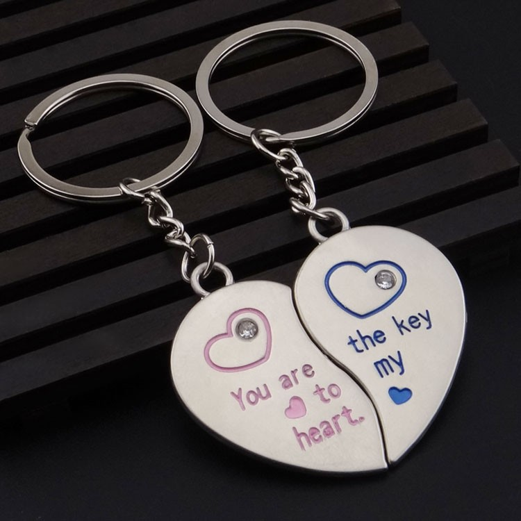 ... fashion heart couples keychain for wedding gift or promotional gift