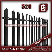 polymer coating 2.4m high d profile palisade fence