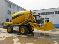 China New Brand QGMC Convenient and Small Self Loading Mobile Concrete Mixer Truck 3.5m3