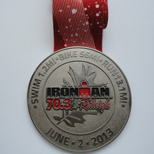 Custom sport medal for sale, Antique gold silver bronze metal medal with ribbon