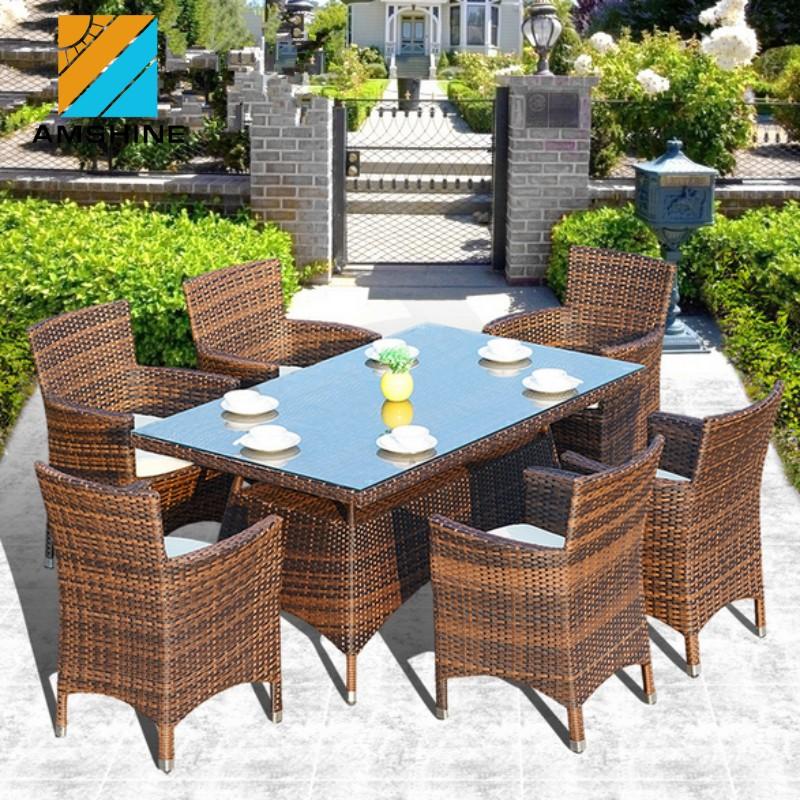 Modernos muebles de jardín muebles de <span class=keywords><strong>ratán</strong></span> al aire libre