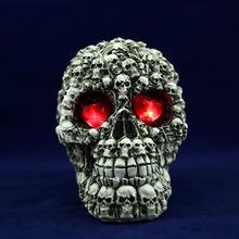 Resin Animal Skull, halloween led skulls, Skull Figure Decor with LED eyes G027 for sale