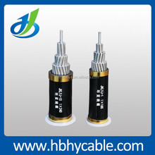 high volatge Aerial PVC Insulated Power Cable acsr conductor