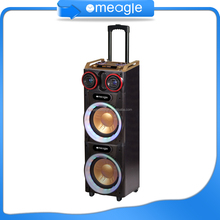 Hot China factory big portable rechargeable speaker with usb/sd,10 inch pa woofer