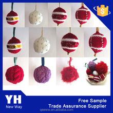 custom acrylic knitted chirstmas ball Xmas decoration