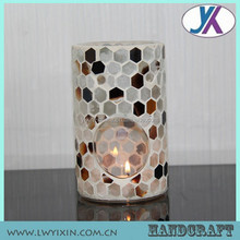 Dia30*H35-60cm CANDLE HOLDER,HURRICANE LAMP SHADE CYLINDER HOLDER MOSAIC GLASS CANDLE WARMER AND SHADE