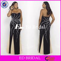 ST264 Costume Made Sweetheart Beaded Low Back Big Size Women Dress Evening Dress For Fat Women