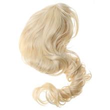 80cm Fashion Cosplay Light goldern Wig Women Wavy Curly Hair Party Long Full Wig