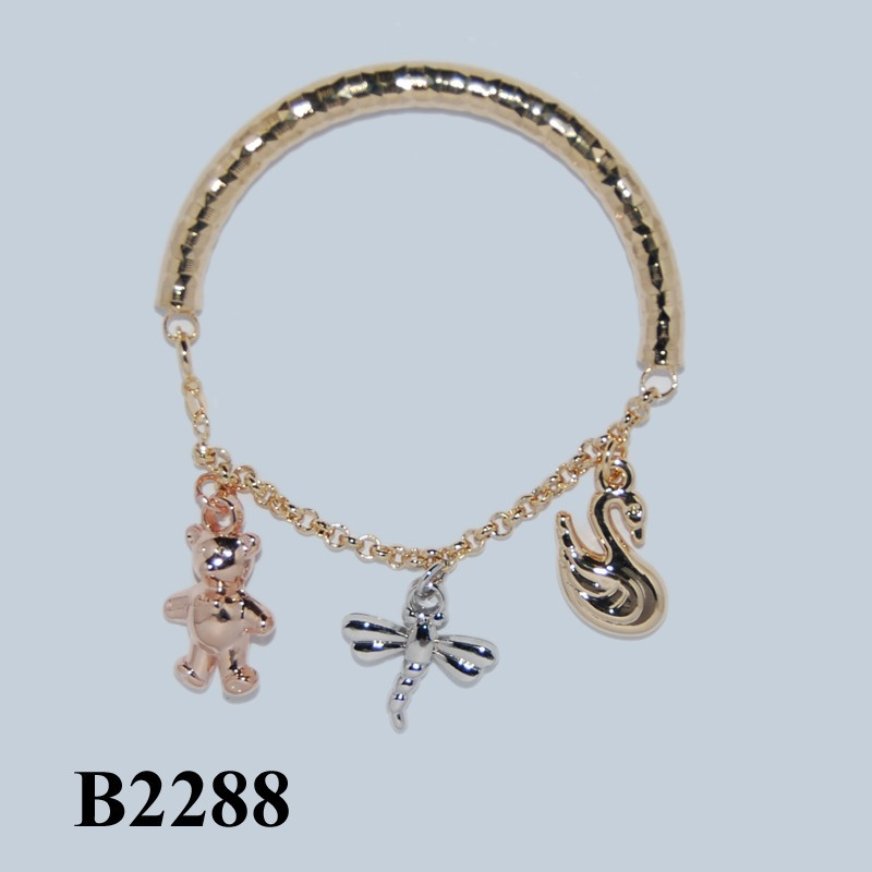 Wholesale new products 2015 fashion 14k charm bracelet for Wholesale 14k gold jewelry distributors