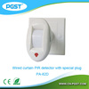 Mini infrared pir motion sensor switch with special plug bracket PA-82D, CE&ROHS