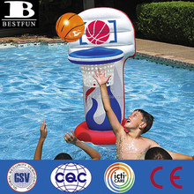 Promotional custom inflatable basketball pool game folding children sports pool game basketball floating pool games