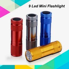 (130189) Factory Promotional OEM Aluminum 9 Led Cheap Torch