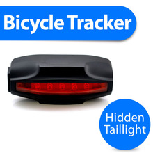 Bicycle gps tracker with taillight and hidden wireless gsm security bike alarm plus anti theft lost remote lock T18